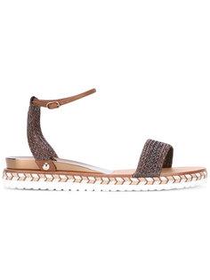 braided flat sandals Casadei
