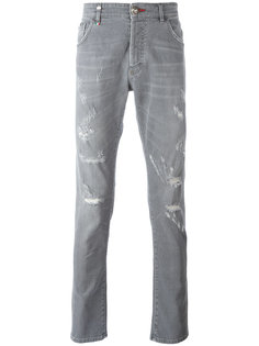 протертые джинсы  Philipp Plein