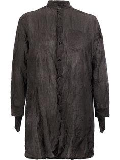 удлиненная рубашка с мятым эффектом Yang Li
