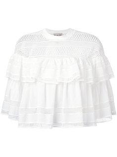 плиссированная блузка с кружевной отделкой Sea