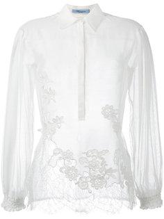сетчатая блузка с цветочной отделкой  Blumarine