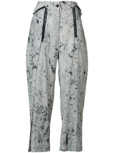 spot marble wide leg trousers Lost & Found Rooms