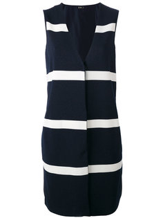 stripe panel sleeveless jacket  Herno