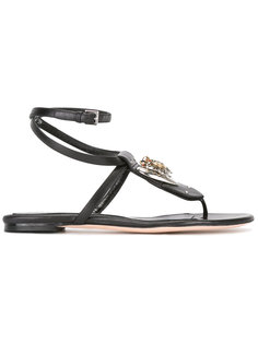сандалии с логотипом Alexander McQueen