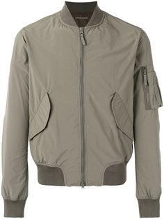 куртка-бомбер  с накладными карманами Aspesi