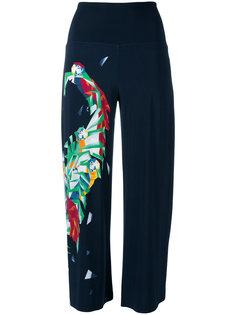 укороченные брюки с геометрическим принтом Norma Kamali