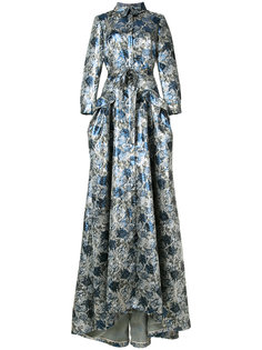 floral trench gown Carolina Herrera