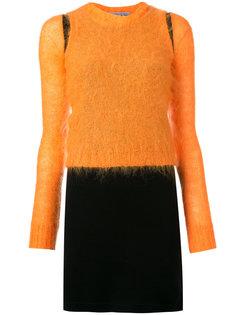 платье с мохеровой вставкой Walter Van Beirendonck Vintage
