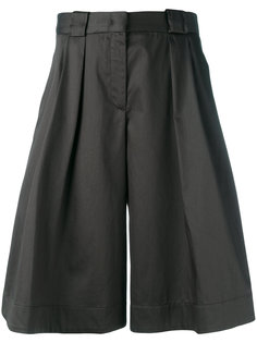 shiny wide leg shorts Jil Sander Navy