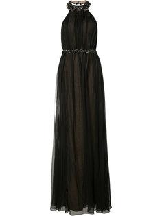 вечернее платье с вырезом-халтер Marchesa Notte