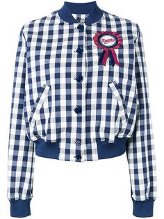 куртка-бомбер  с заплаткой Love Moschino