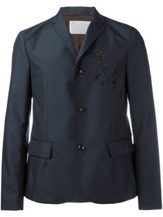 куртка с цветочной вышивкой Kolor