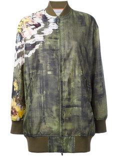 куртка-бомбер  с абстрактным принтом Valentino