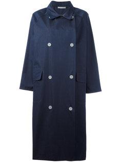 пальто с драпировкой на вороте Dusan