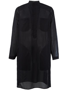 полупрозрачная удлиненная рубашка Qasimi