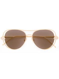 солнцезащитные очки-авиаторы с кристаллами Swarovski Boucheron
