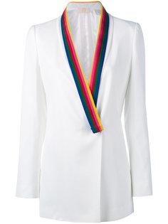 пиджак с контрастными лацканами Sara Battaglia