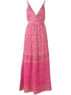 платье миди с зигзагообразным узором M Missoni