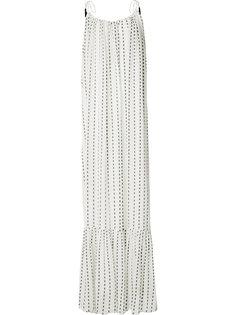 blurred stripe maxi dress Saloni