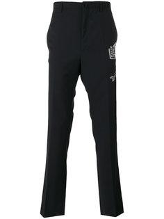 брюки с вышитыми стрелами  Lanvin