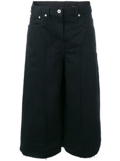 denim culotte trousers Sacai