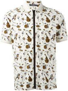 футболка-поло с музыкальными инструментами Dolce & Gabbana