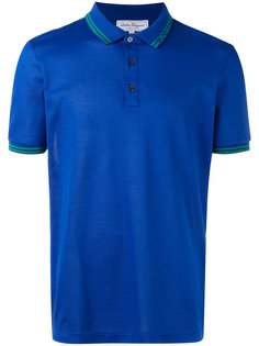 рубашка-поло с контрастной отделкой Salvatore Ferragamo
