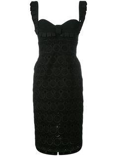 облегающее платье с вырезом сердечком Capucci