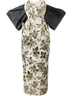 длинное платье с цветочным принтом Christian Pellizzari