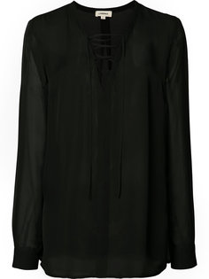 блузка со шнуровкой Lagence