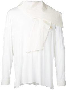 scarf-detail shirt Aganovich