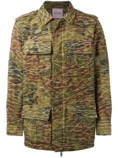 куртка милитари с камуфляжным принтом Palm Angels