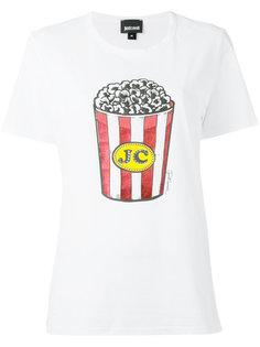 футболка с принтом попкорна Just Cavalli