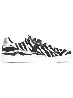 кроссовки с принтом зебра Dolce & Gabbana