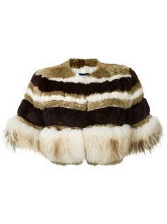 fur cropped jacket Andrea Bogosian