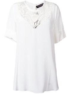 блузка с кружевной вставкой Twin-Set