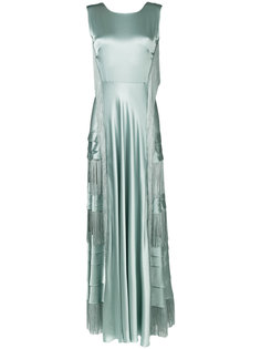 длинное платье с бахромой Alberta Ferretti