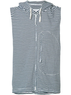 striped sleeveless hoodie  Engineered Garments
