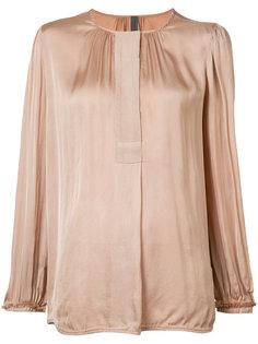 collarless blouse  Raquel Allegra