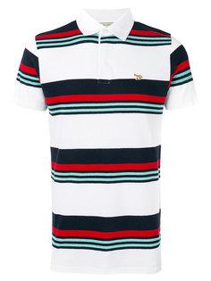 футболка-поло в полоску  Maison Kitsuné