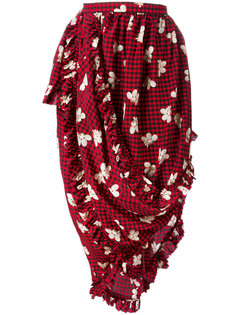 gingham print asymmetric skirt Simone Rocha