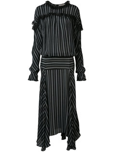 long striped panel dress  Preen By Thornton Bregazzi