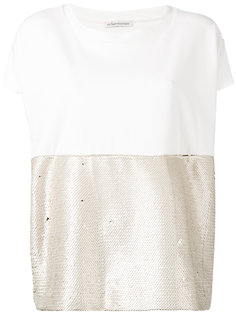 light gold sequin top Stefano Mortari