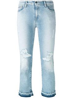 укороченные джинсы с потертостями Calvin Klein Jeans