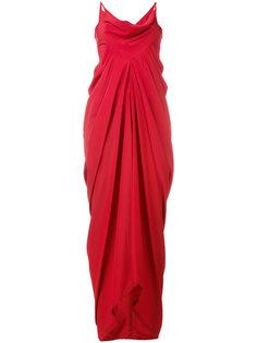 вечернее платье со сборками Rick Owens