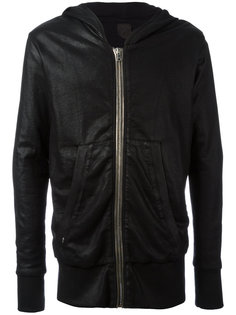 metallic zipped hoodie Rta