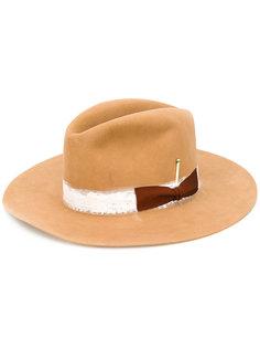 фетровая шляпа с бантом сбоку Nick Fouquet