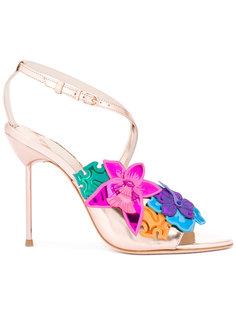 floral metallic sandals Sophia Webster