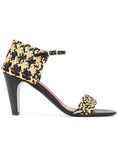 open toe woven detail sandals Michel Vivien