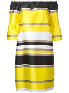 платье в полоску с открытыми плечами Blugirl